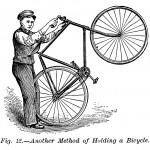 Wie man ein Fahrrad hält