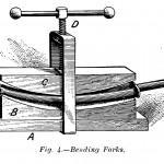 Apparatur zum Biegen der Fahrradgabel