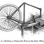 Befestigung des Rahmens zur Zentrierung des Hinterrades