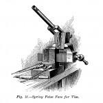 Schraubstock mit spezieller Auflage mit Feder