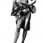 Statuette mit Zupfinstrument