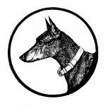 Hundekopf - Vignette vom Buchtitel