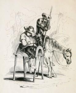 Don Quichote und Sancho Panza