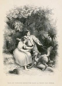 Paul et Virginie retrouves dans la foret par fidele