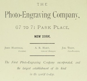 Photo Engraving Co. : engraving for all purposes (1880)