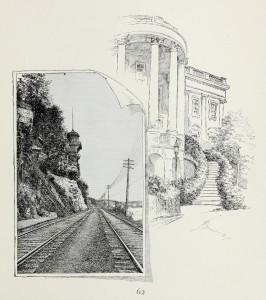 Bahngleis mit Hang und Landschaft