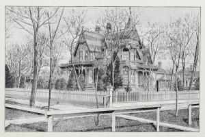 Haus hinter Bäumen