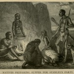 Natives Preparing Supper for Stanley's Party
