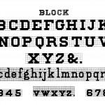Block Alphabet