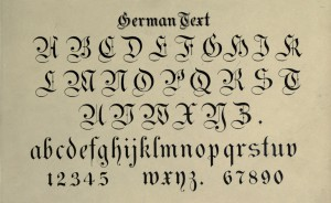 German Text Alphabet