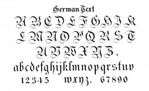 German Text Alphabet