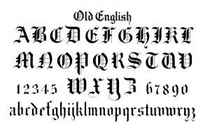 Old English Alphabet