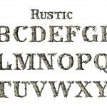 Rustic Alphabet