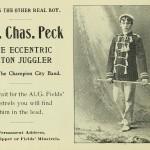 Maj. Chas. Peck - The eccentric baton juggler