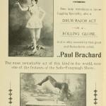 The Novelty Duo - Mlle. Brachard and Paul Brachard - Drum Major Act - Rolling Globe