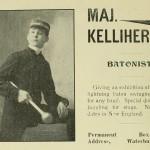 Maj. Kelliher - Batonist - Giving an exhibition of fancy and lightning baton swinging