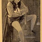 Sarah Bernhardt (mit Laute od. Mandoline)