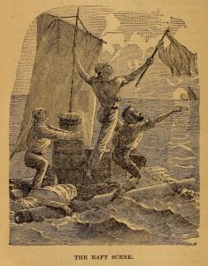 The raft scene