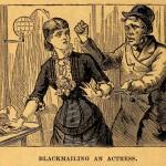Blackmailing an actress